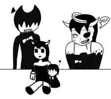 Quick Doodle (Tiny Richard with an Alice Doll) by RichardtheDarkBoy29