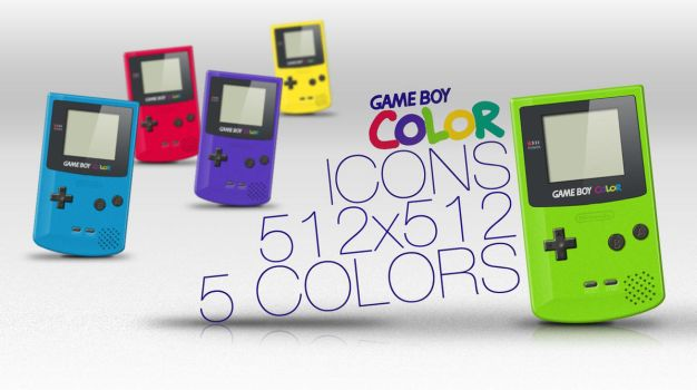 Game Boy Colour Icons by NKspace