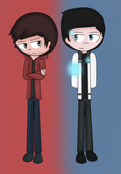 D:BH - Gavin and RK900 by FJesseMCSM
