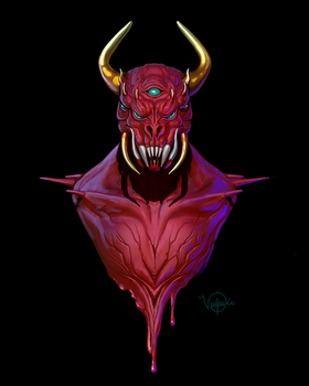 All-Seeing Demon by vulpsieart