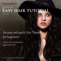Paint hair over stock by CindysArt