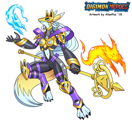 Digimon: Heroes - Sakuyamon (Heroes Version) 2018 by HewyToonmore