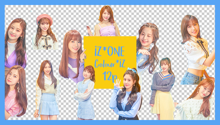 IZ*ONE Colour*IZ Render pack 12p by vagarystars