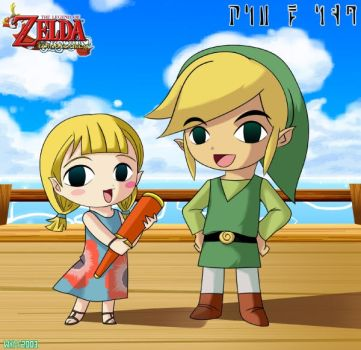 Wind Waker Aryll And Link by kurokumo