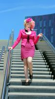 Effie Trinket - Capitol Stairs by toffee-owl