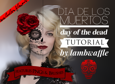 Day of the Dead Tutorial by lambwaffle