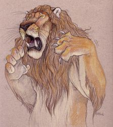 The Cowardly Lion by caramitten