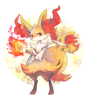 Braixen and fennekin