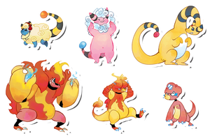 Pokemon Stickers Set 7