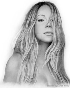 The Elusive Chanteuse Mariah Carey Drawing by riefra