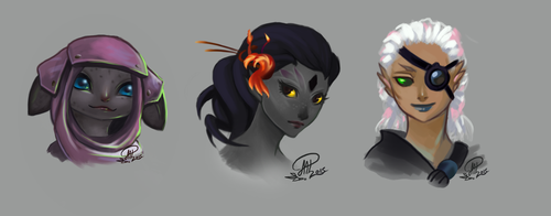 GW2 toons by Illumikage