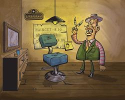 The Barber by mike-loscalzo