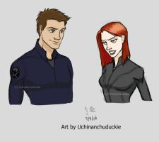 Kells' Clint and Natasha by UchinanchuDuckie