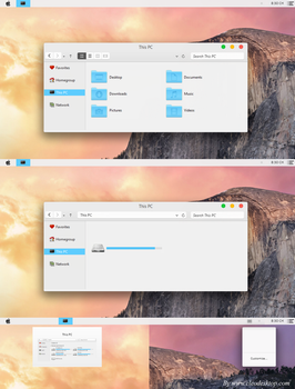 OS X Yosemite Theme Windows 8.1 by Cleodesktop
