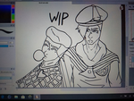 Kira and Josefumi - Wip by TitanSayan