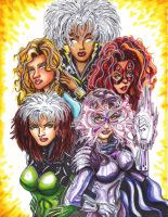 X-Women of the 80s by KwongBee-Arts
