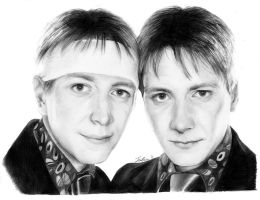 Oliver and James Phelps by JuliaFox90