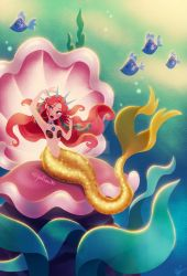 Mermaid in Large Clamshell by DylanBonner