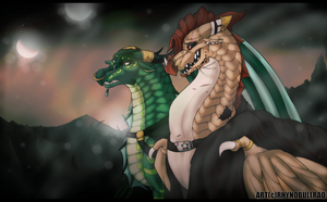 Wings of fire Adenium and Gneiss by RhynoBullraq