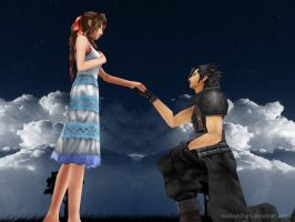 Zack x Aerith Will You Marry Me by KondouMiharu