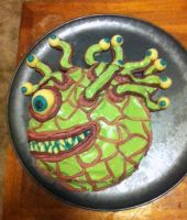Beholder Dungeons and Dragons Cake by conduitgirl