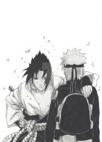 Naruto and Sasuke after 3 years by MTEvans