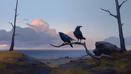 Huginn and Muninn, Clan of the Raven - NORTHGARD by Kurunya