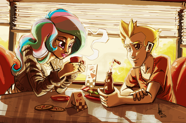[commission] Lunch with mystery by TheArtrix