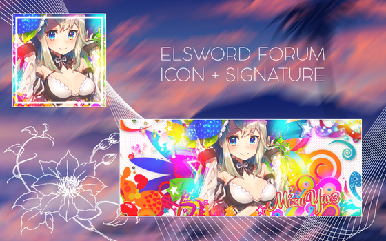 Elsword Icon + Signature by luluchan696