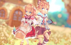 [MMD] Aura Kingdom Hansel and Gretel DOWNLOAD by Horiew