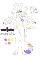 Mia /small ref/ by CalyTheWhiteFox