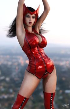 Scarlet Witch Iray by tiangtam