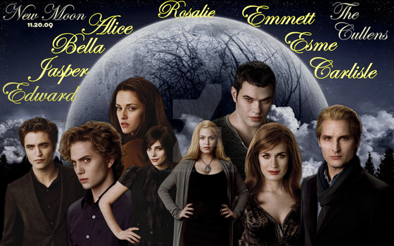 New Moon: The Cullens by XanderBlack