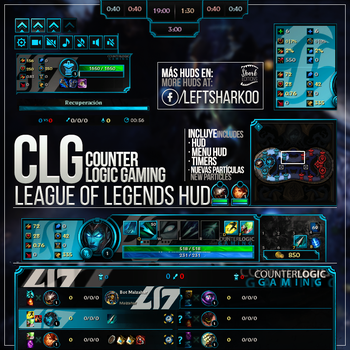 Counter Logic Gaming Team League of Legends HUD by LeftLucy