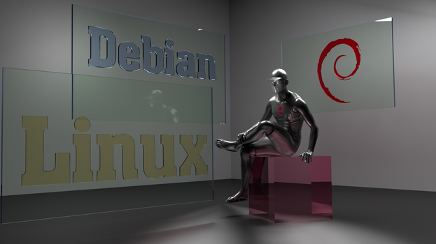 Debian Glass  Male 3D by Lukazoid