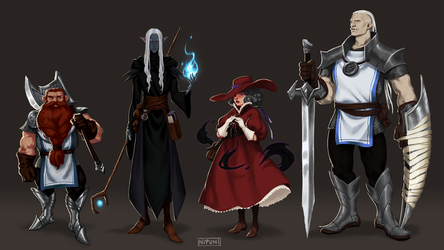 My DnD party by nipuni