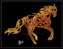 Quranic Calligraphy - Horse by kchemnad