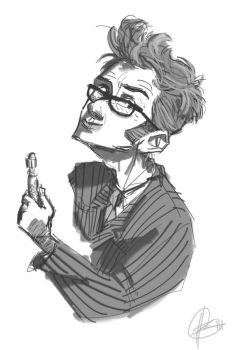 Tennant doodle by superlaky