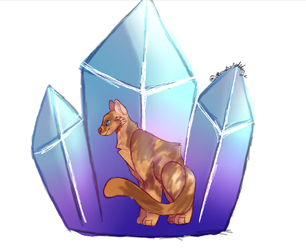 crystal cat by TheSatisfideDoge
