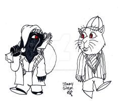 Inktober 7: Ratty and Moley by CelmationPrince