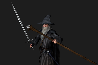 Gandalf the grey 3D model by Louis-Lux