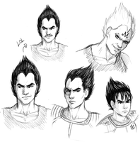 Vegeta doodles by Dinklebert