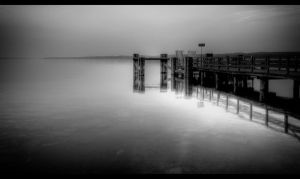 Misty pier by sylaan