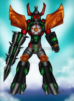 Sentai Gaurdian Green Dragon Zord armor by blueliberty