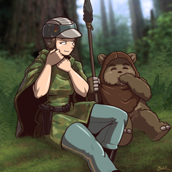 A Quiet Moment on Endor by Blazbaros