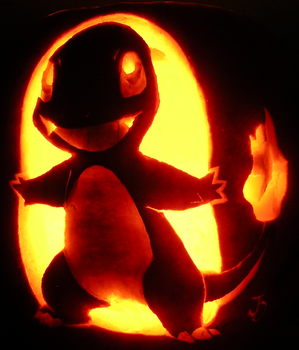 Charmander on ze Pumpkin by johwee