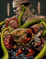 Hellboy colored by KaRzA-76