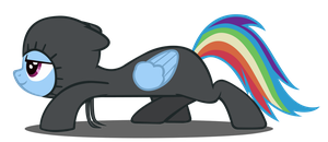 Sneaky Rainbow Dash Vector (Redone) by Dipi11
