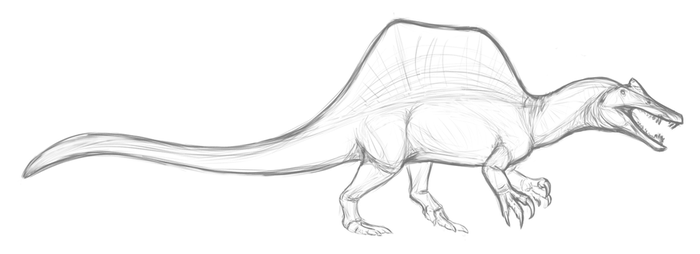 Supremely Speculative Spinosaurus by Dekerrex