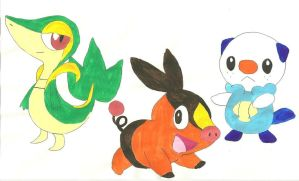 Black and White Starters by tiedye237